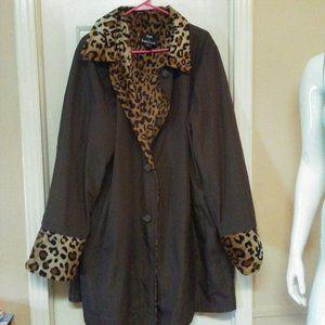 Dennis Basso Reversible Faux Fur Coat